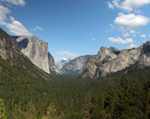 Yosemite Valley as seen from Tunnel View.